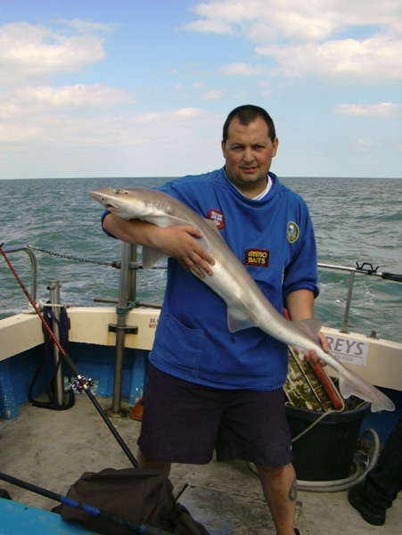 Smooth Hound fishing, Chris Mole Charter Boat Hire offers the very best tope fishing available from the Essex Coast Area